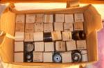 Box of Film Strips - Makuri School; 1996-2525-1
