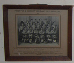 Framed Photo - Pahiatua Pipe Band 1954; 1954; 1983-1422-1