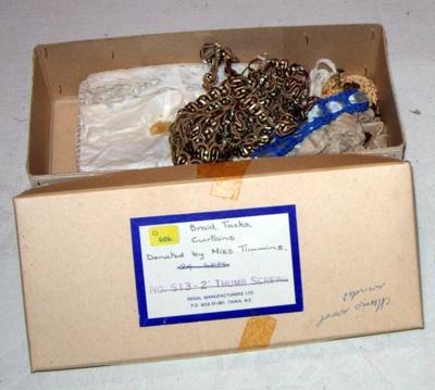 Box of Braids, Tacks and Curtains; 1978-0606-1