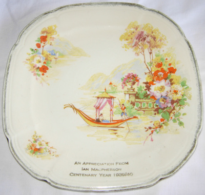Square Plate; Alfred Meakin; 1939; 2008-3287-1