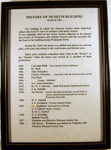 Framed Document - A written History of the Museum Building 33 Sedcole St; 1995-2388-1