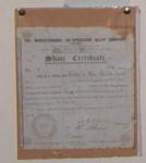 Framed Share Certificate - Mangatainoka Dairy Co; 1935; 1983-1483-1