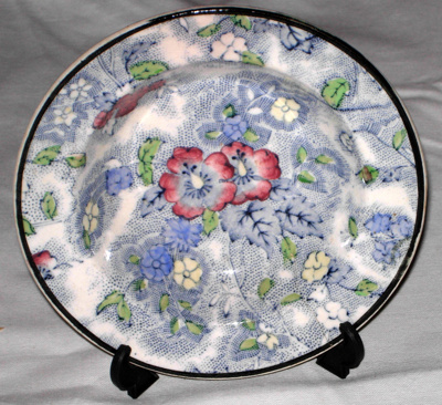 Blue Dish; 1977-0017-1