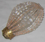 Beaded Light Bulb Cover; 1977-0297-1