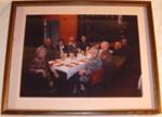 Framed Photo - Pahiatua Museum Committee 2003-04 at Xmas dinner; 2004; 2006-3183-1
