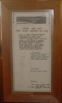 Framed Document - Official opening of the Mangatainoka River Bridge 1932; 1999-2567-1