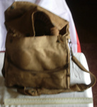 Gas Mask in canvas satchel; 2005-3175-1