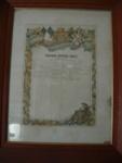 Makomako Methodist church framed Roll of Honour; 1979/475/1