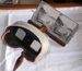 Stereoscope Viewer and Box of Viewing Cards; 1977-0415-1&2