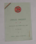 Pahiatua DHS - 75th Jubilee Menu Card; 1996-2427-1