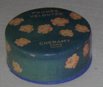 Canister of French face powder; Cheramy; 1986-1528-1