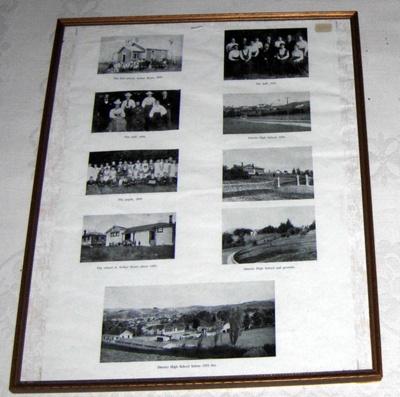 Framed Photo Board - Pahiatua School 1890-1955; 1990-1747-1