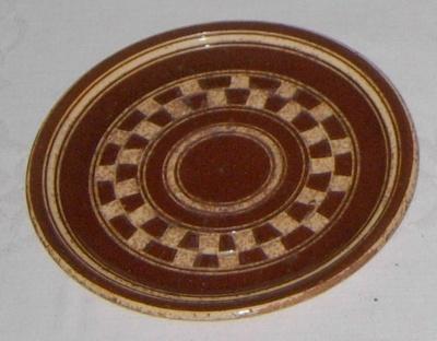 Brown China Plate; 1977-0012-1