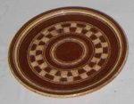 Brown China Plate; 1977-0012-1