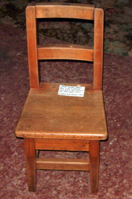 Small Wooden Chair; 1983-1382A-1