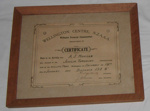 Athletic Certificate (Framed); NZAAA; 1924; 1982-1277-4