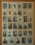 Framed photo card of Makomako & Nikau districts Roll of Honour (35 soldiers - individual portrait photo's); 2005/2892/1
