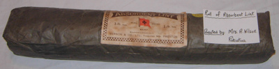 Roll of Absorbent Lint; Vernon & Co Ltd; 1992-1984-1