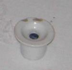 White Crockery Inkwell; 1979-0898-1