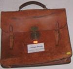 Leather Satchel; 1988-1671-1