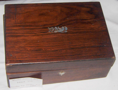 Wooden Sewing Box (Inlaid Lid); 1989-1774-1