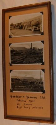 Framed Photo Board - Gardner & Yeoman Ltd Pahiatua Mill; c1920's; 1993-1999-1