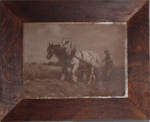 Framed Painting - Horses and Plough; 1995-2204-1