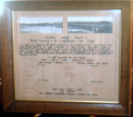 Framed Document - Official opening of the Mangatainoka River Bridge 1932; 1932; 1999-2566-1