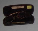 Spectacles - Pinz-nez in case; J B Gerrand & Sons; 1981-1198-1