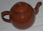 Brown China Teapot; 1977-0341-1