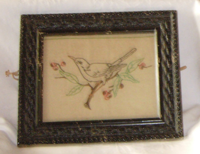 Framed Embroidery; 1981-1222-1