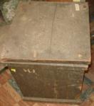 A Square Wooden Box; c1880's; 1978-0566-1