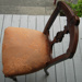 Carved back chair; 1977/0301/1