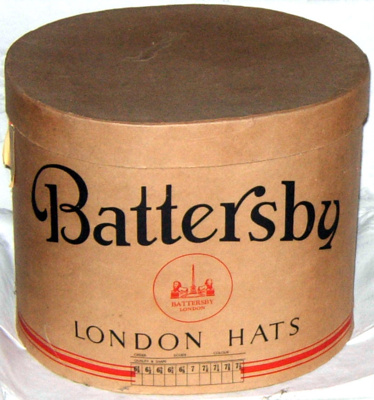 Cardboard Hat Box; Battersby; 1981-1103-1