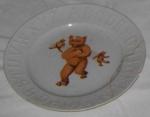 Baby's Plate Teddy Bear Alphabet; 1982-1300-1
