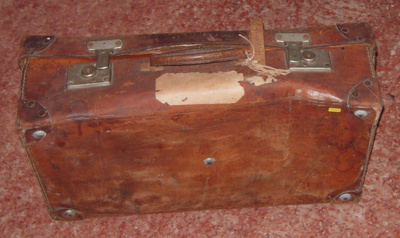 Leather Suitcase; 1977-0145-1