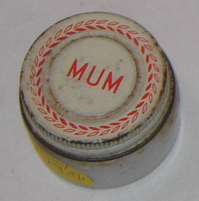 Jar of Mum Deoderant; Bristol-Myers; 1990-1798-1