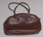 Leather Zip Bag; 1981-1196-1
