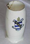 Royal Dalton Eggcup - Wanganui Collegiate Logo; Royal Dalton; 1915; 1979-0738-1