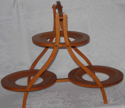 Wooden cake stand; 1982-1307-1