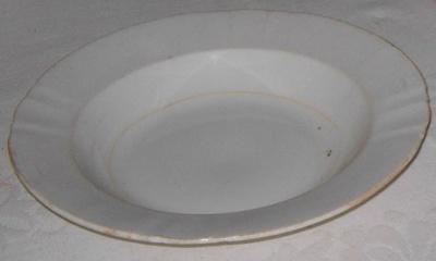 Large Porridge Plate; Doulton & Co; 1977-0022-1