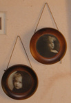Two Wooden Circular Photo Frames; Webster & Co; 1979-0731-1