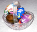 Ornament -  Small plastic basket with painted eggs; 2017/3513-1