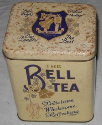 Bell Tea Tin; Bell Tea Co Ltd; 2011-3355-1