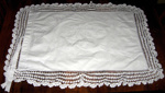 Embroidered Pillowcase; 1980-0981-1