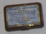Tin of Chlorate of Potash; William T Brown; 1992-1900-1