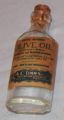 Bottle of Olive Oil; A C Timms; 2006-3149-1