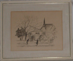 Painting - St Pauls Union Church; E McQueen; 1962; 2005-2927-1