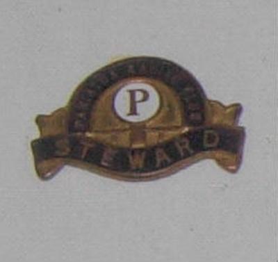 Pahiatua Racing Club Stewards Badge; 1999-2603-1