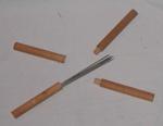 Steel Knitting Needle Case 2 No. (Wooden); 1982-1235-1